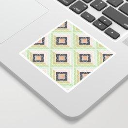 Retro Mod Diamonds Sticker