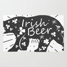 Irish Beer Drinking Funny St Patricks Day Rug