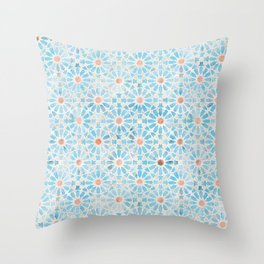 Hara Tiles Light Blue Throw Pillow