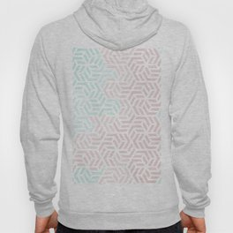 Pastel Deco Hexagon Pattern - Aqua and Pink #pastelvibes #pattern #deco Hoody