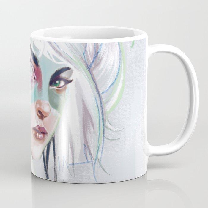 silver hair girl waiting Coffee Mug