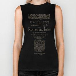 Shakespeare, Romeo and Juliet 1597 Biker Tank