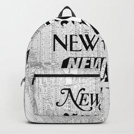New York City black and white New York poster I love heart NYC Design black-white home wall decor Backpack