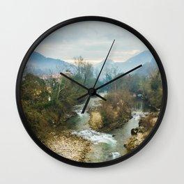 Mountain river Sella Wall Clock
