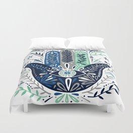 Hamsa Hand – Navy Palette Duvet Cover