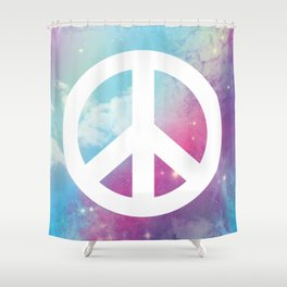 Peace Space Shower Curtain