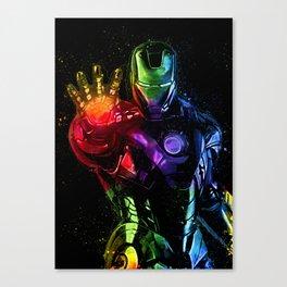 Avenger Infinity Wars Iron Man Abstract Painting - Iron Man Graffiti Canvas Print