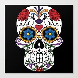 Colorful Sugar Skull Canvas Print