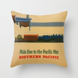 Vintage poster - Southern Pacific Throw Pillow