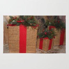 Rustic Christmas Gifts Rug