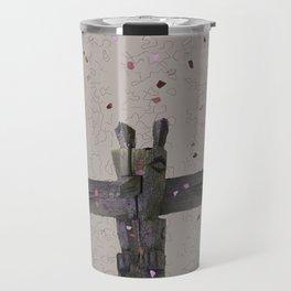 RusticTerrazzo Totem Travel Mug