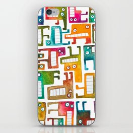 Tetris Monsters iPhone Skin