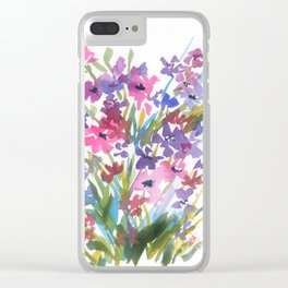 Lavender Mini Fleurs Clear iPhone Case