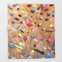 Wooden boulders climbing gym bouldering photography Throw Blanket