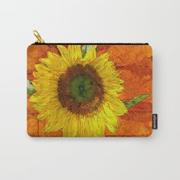 Sunflower Leaf Impression Carry-All Pouch