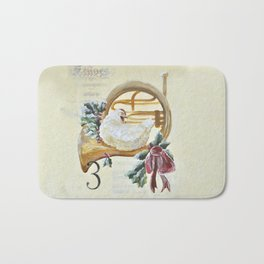 Three French Hens Bath Mat