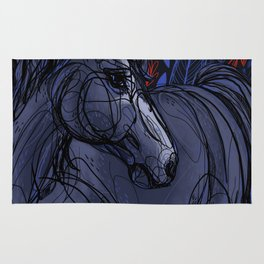 Valor the Mustang Rug