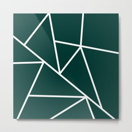 Evergreen Mountain Lines Metal Print