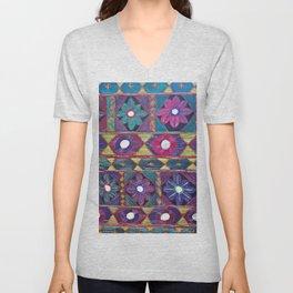 Embroidery Unisex V-Neck