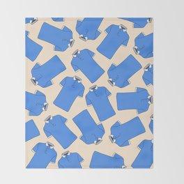 Shopping Blue Poloshirts Throw Blanket
