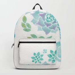 Watercolor Succulent Garden 3 Backpack