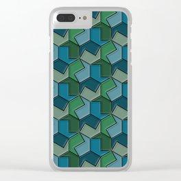 Geometrix 166 Clear iPhone Case