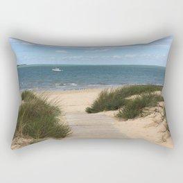 Breezy Seaside Path Rectangular Pillow