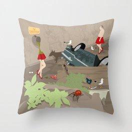 Pollution Throw Pillow