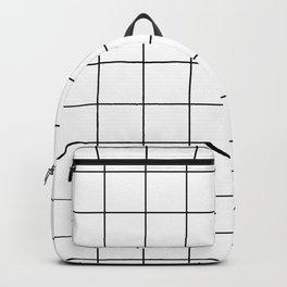 grid pattern Backpack