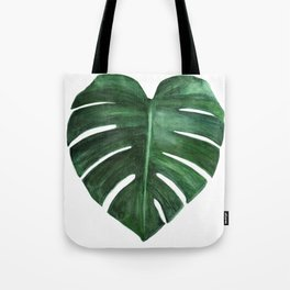 Watercolor Monstera leaf Tote Bag
