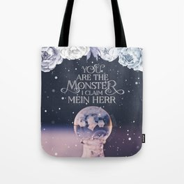 Wintersong - You are the monster I claim Tote Bag