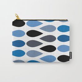 Mid Century Teardrops in Blue Carry-All Pouch
