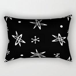 Atomic Era Space Age Black Rectangular Pillow