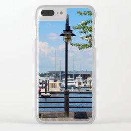 Riverfront Scene Clear iPhone Case