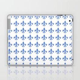 French Blue fleur di li Laptop & iPad Skin
