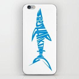 Stop Shark Finning (blue) iPhone Skin