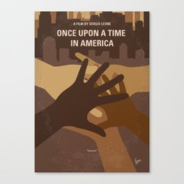 No942 My Once Upon a Time in America minimal movie poster Canvas Print