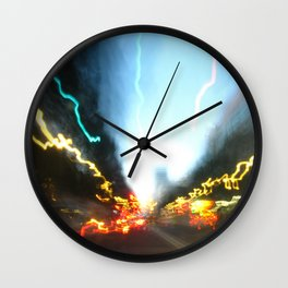 Abstract Downtown Flow - Light Painting Wall Clock