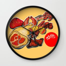 Red meat Wall Clock