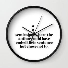 semicolon Wall Clock