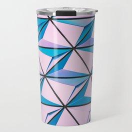 Pattern blue purple Travel Mug