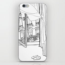 Window View in France  //  ink drawing iPhone Skin