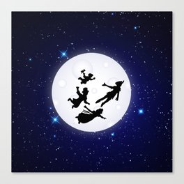 Flying to Neverland Canvas Print