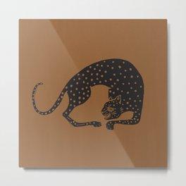 Blockprint Cheetah Metal Print