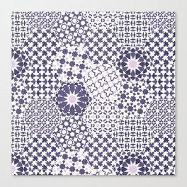 Spanish Tiles of the Alhambra - Violets Canvas Print