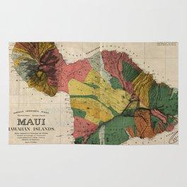 Vintage Map of Maui Hawaii (1885) Rug