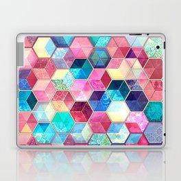 Topaz & Ruby Crystal Honeycomb Cubes Laptop & iPad Skin