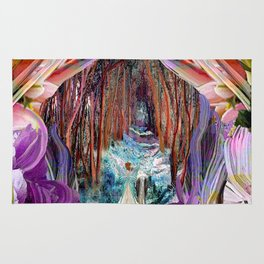 Fairy and Unicorn, Fantasy Forest Rug