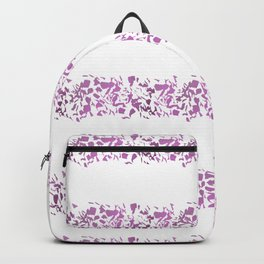 Modern abstract violet purple watercolor geometrical stripes Backpack