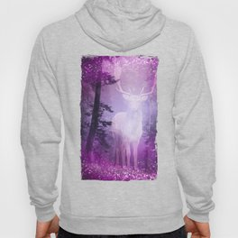 Fairy deer out of the woods mystic pink glitter forrest Hoody